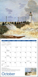Monet At Sea Wall Calendar 2021, Monthly January-December 12'' x 12""