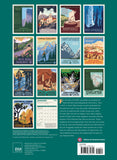 "National Parks GRID WPA Wall Calendar 2021, Monthly January-December 8.75'' x 12"" (Made in USA)"