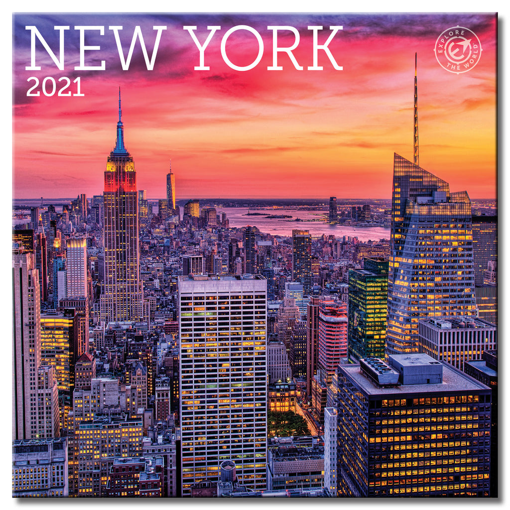 New York Calendar 2021 New York Wall Calendar 2021, Monthly January December 12'' x 12