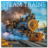 Steam Trains Wall Calendar 2021, Monthly January-December 12'' x 12""