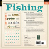 Twelve Months of Fishing Wall Calendar 2021, Monthly January-December 12'' x 12""