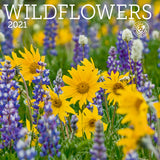 Wildflowers Wall Calendar 2021, Monthly January-December 12'' x 12""
