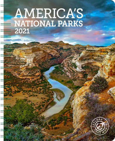 "America's National Parks Weekly Engagement Calendar 2021, Planner 6.5"" x 8.5"" Spiral Bound"
