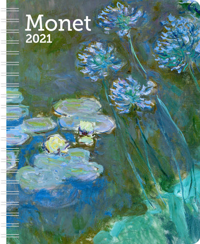 "Monet Weekly Engagement Calendar 2021, Planner 6.5"" x 8.5"" Spiral Bound"