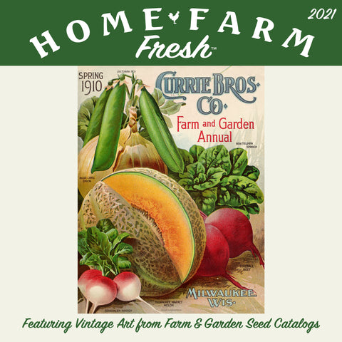 Home-Farm Fresh Garden Wall Calendar 2021, Monthly January-December 12'' x 12""