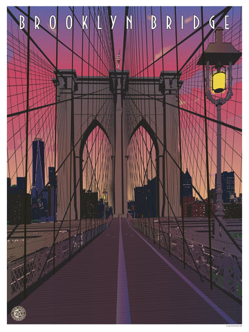 Brooklyn Bridge Print, Sunset - Ziga Media