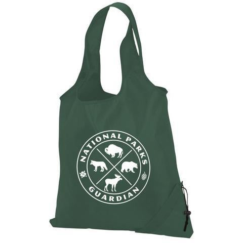 National Parks Guardian Foldaway Forest-Green Tote Bag