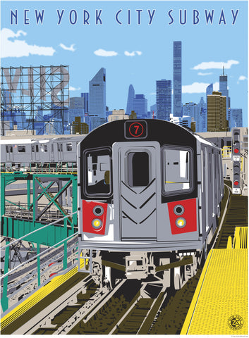 New York City Subway Print - Ziga Media
