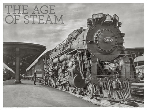 Chesapeake & Ohio Railway No. 307 The Age of Steam 24 x 18-inch poster