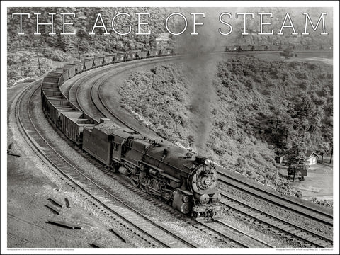 Pennsylvania RR No. 4354 The Age of Steam 24 x 18-inch poster - Ziga Media