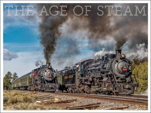 GCRX No. 29 and GCRX  No. 4960 The Age of Steam 24 x 18-inch poster