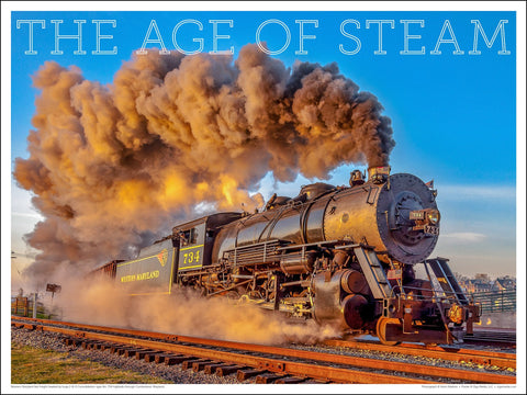 Western Maryland No. 734 The Age of Steam 24 x 18-inch poster - Ziga Media