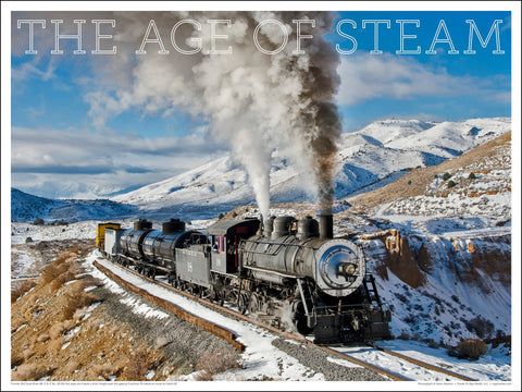 Former McCloud River RR No. 18 The Age of Steam 24 x 18-inch poster - Ziga Media
