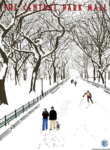Central Park—The Mall Print