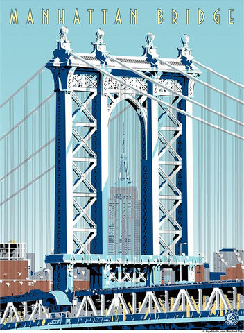 Manhattan Bridge Print - Ziga Media