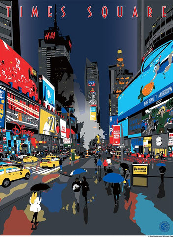 Times Square Night Print - Ziga Media