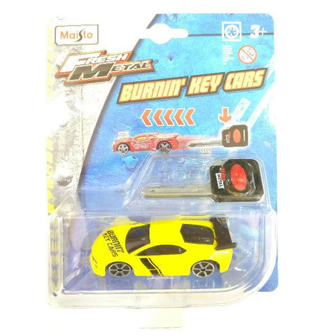 Maisto Fresh Metal Burnin' Key Cars Street Speeder Yellow