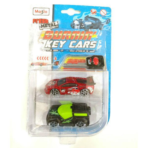 Maisto Fresh Metal Burnin' Key Cars FM Rover and Street Speeder