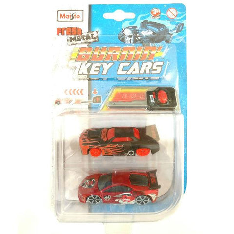 Maisto Fresh Metal Burnin' Key Cars Slayer and Street Speeder Red & Black