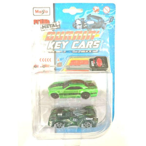 Maisto Fresh Metal Burnin' Key Cars Nite Crawler and Stallion