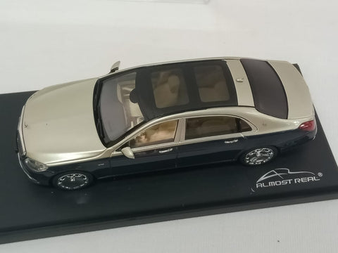 Almost Real Mercedes-Maybach S-class - 2019 -Anthracite Blue/Aragonite Silver 1/43