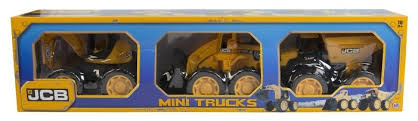 HTI JCB Mini trucks Set of 3