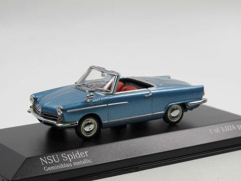 Minichamps NSU Spider Open Top Blue Car 1/43