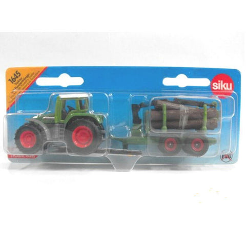 Siku Tractor With Forestry Trailer - Hobbytoys - 2