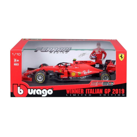 Bburago 2019 F1 Ferrari Italian GP SF90 #16 Racing C Leclerc car  1/18 Limited Edition