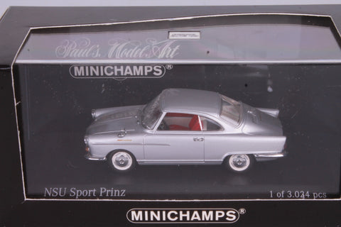 Minichamps NSU Sports Prinz Silver Metallic Car 1/43