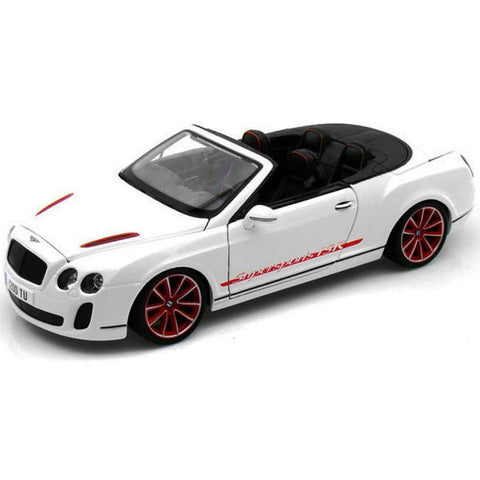 Bburago Bentley Continental Supersport Convertible ISR 1/18 White