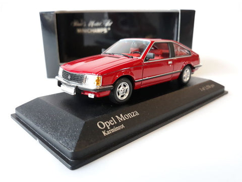 Minichamps Opel Monza Red Car 1/43