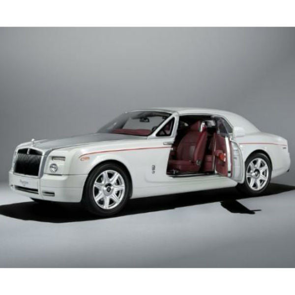 Kyosho Rolls Royce Phantom Coupe 1/18 English White - Hobbytoys - 1