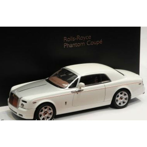 Kyosho Rolls Royce Phantom Coupe 1/18 English White - Hobbytoys - 2