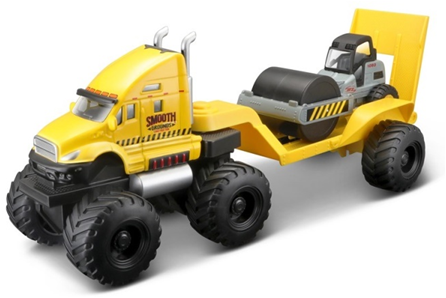 Maisto Builder Zone Quarry Haulers Yellow