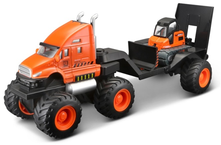 Maisto Builder Zone Quarry Haulers Orange