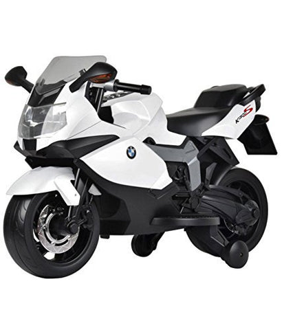 BMW Original Licensed 12 volt battery operated kids bike with three speed control white