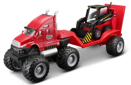 Maisto Builder Zone Quarry Haulers Red