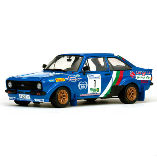 Sun Star Ford Escort RS1800 J-M Latvala / A. Sairanen No.1 Winner Lahti Historic Rally 2010 1/18 Diecast Model Car - Hobbytoys - 1