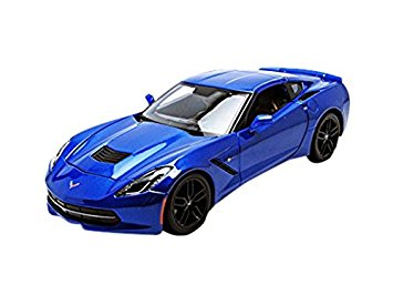 Maisto Power Kruzerz Corvette Stingray 2014 Blue Pull Back Action Car