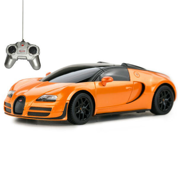 Rastar Bugatti Veyron 16.4 Grand Sport Vitesse Orange 1/24 Remote Control Car - Hobbytoys