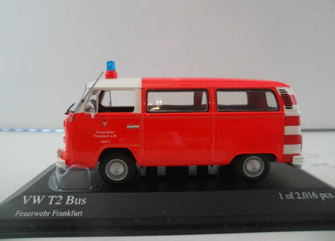 Minichamps Volkswagen T2 Bus Red 1/43