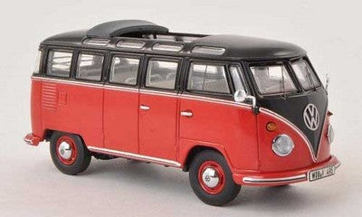 Minichamps Volkswagen T1 Samba Black/Red Car 1/43
