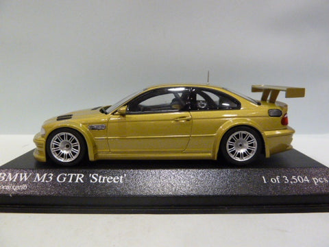 Minichamps BMW M3 GTR Street Yellow Car 1/43
