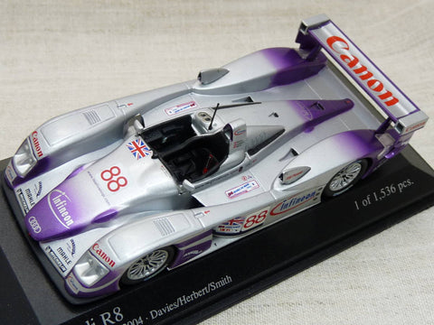 Minichamps Audi R8 Grey Car 1/43