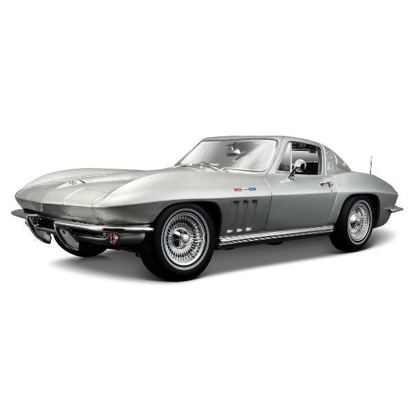 Maisto 1965 Chevrolet Corvette 1/18 Grey - Hobbytoys