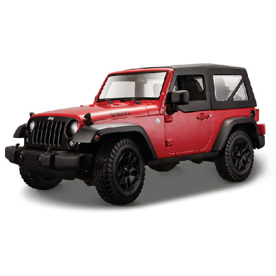 Maisto 2014 Jeep Wrangler 1/18 Red - Hobbytoys