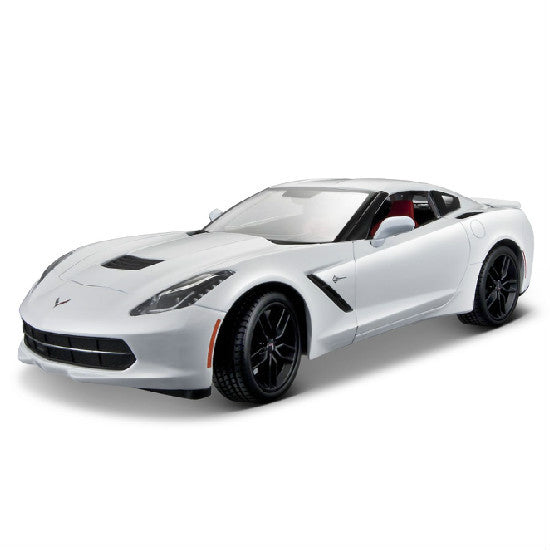 Maisto 2014 Corvette Stingray Z51 1/18 White - Hobbytoys