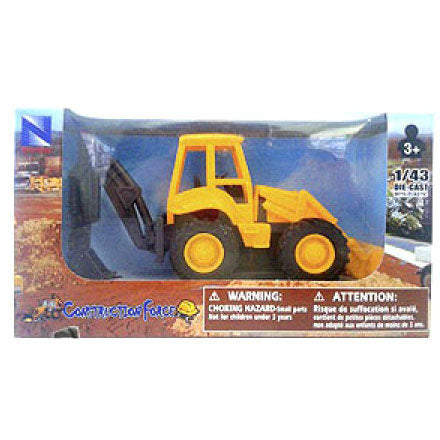 "Construction Force"" Model Backhoe Loader by New-Ray Die-cast Truck Model 1:43"