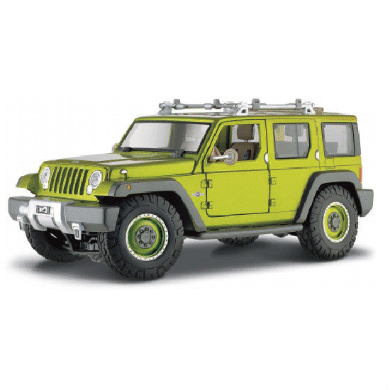 Maisto Jeep Rescue Concept 1:18 Die-cast Scale Model - Met Green - Hobbytoys